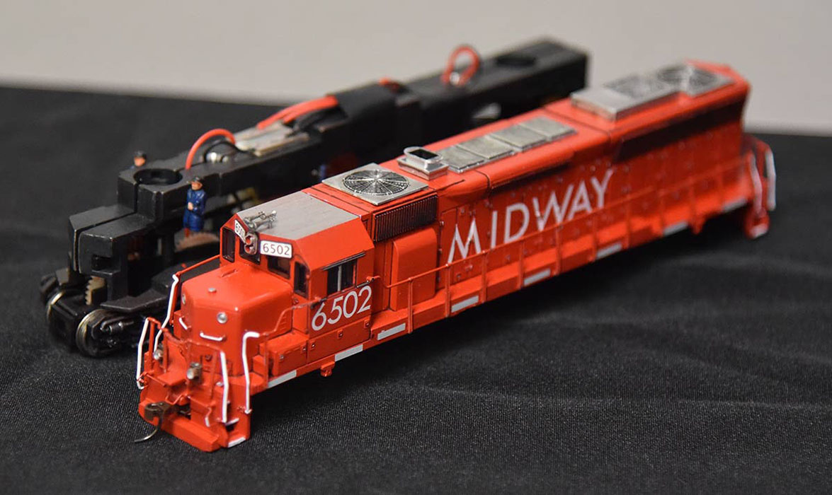 <em>Midway 6502 SD45</em> by Matthew Lentz - 2nd Place -Diesel Locomotive Category<br>2019 MWR & TLR Joint Convention