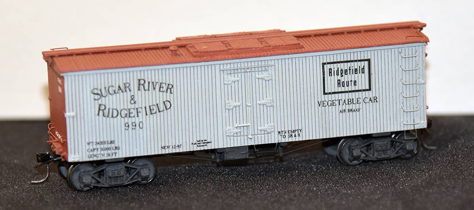 <em>Sugar River and Ridgefield Reefer</em> by Ken Mosny - 1st Place - Rolling Stock Category<br>2019 MWR & TLR Joint Convention.